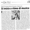 Rassegna Stampa: si inizia a ritmo di musica